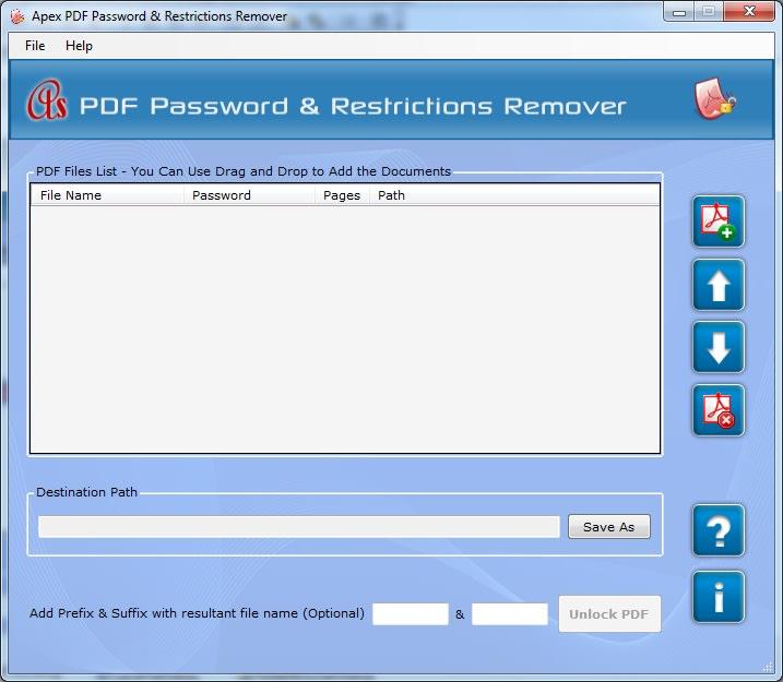 Apex PDF Password & Restrictions Remover
