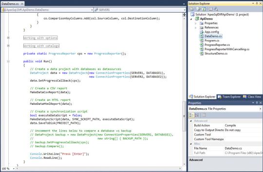Apex SQL Diff API