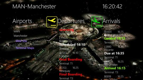 APPA Flight Info for Windows 8