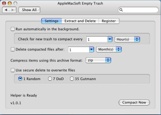 AppleMacSoft Empty Trash