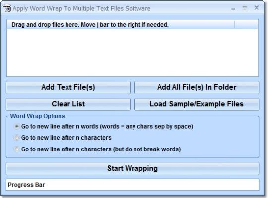 Apply Word Wrap To Multiple Text Files Software