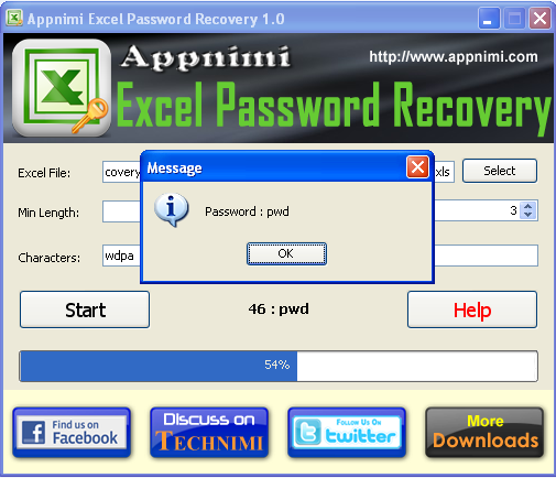 Appnimi Excel Password Recovery
