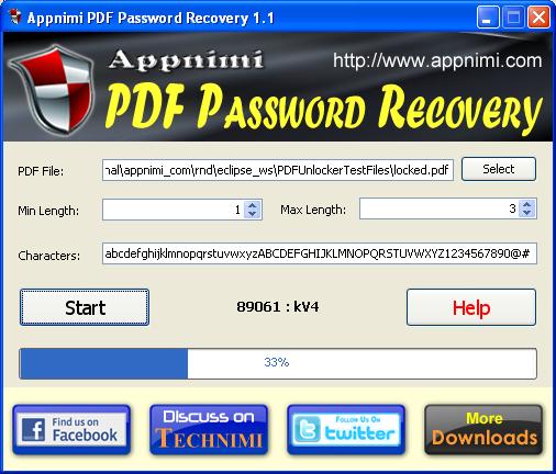 Appnimi PDF Password Recovery