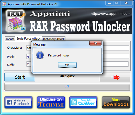 Appnimi RAR Password Unlocker