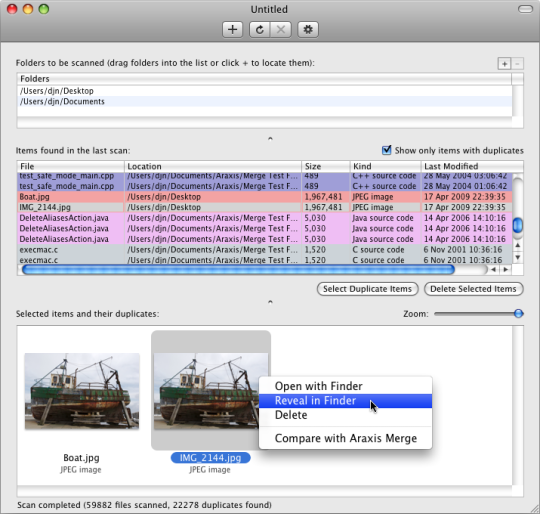 Araxis Find Duplicate Files