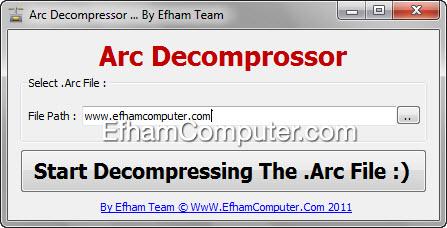 Arc decompressor