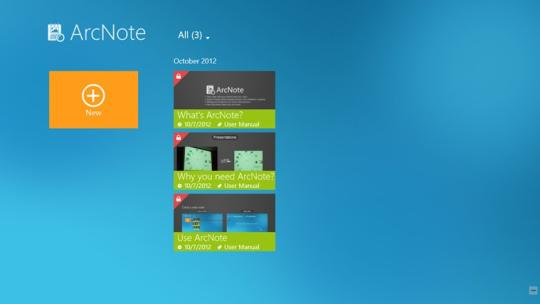 ArcNote for Windows 8