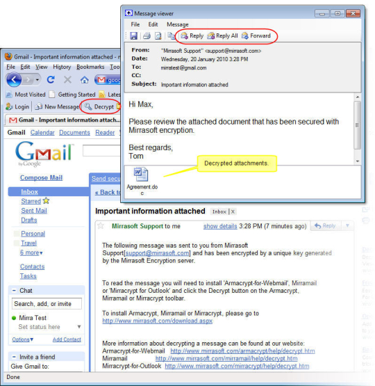 Armacrypt Webmail Encryption