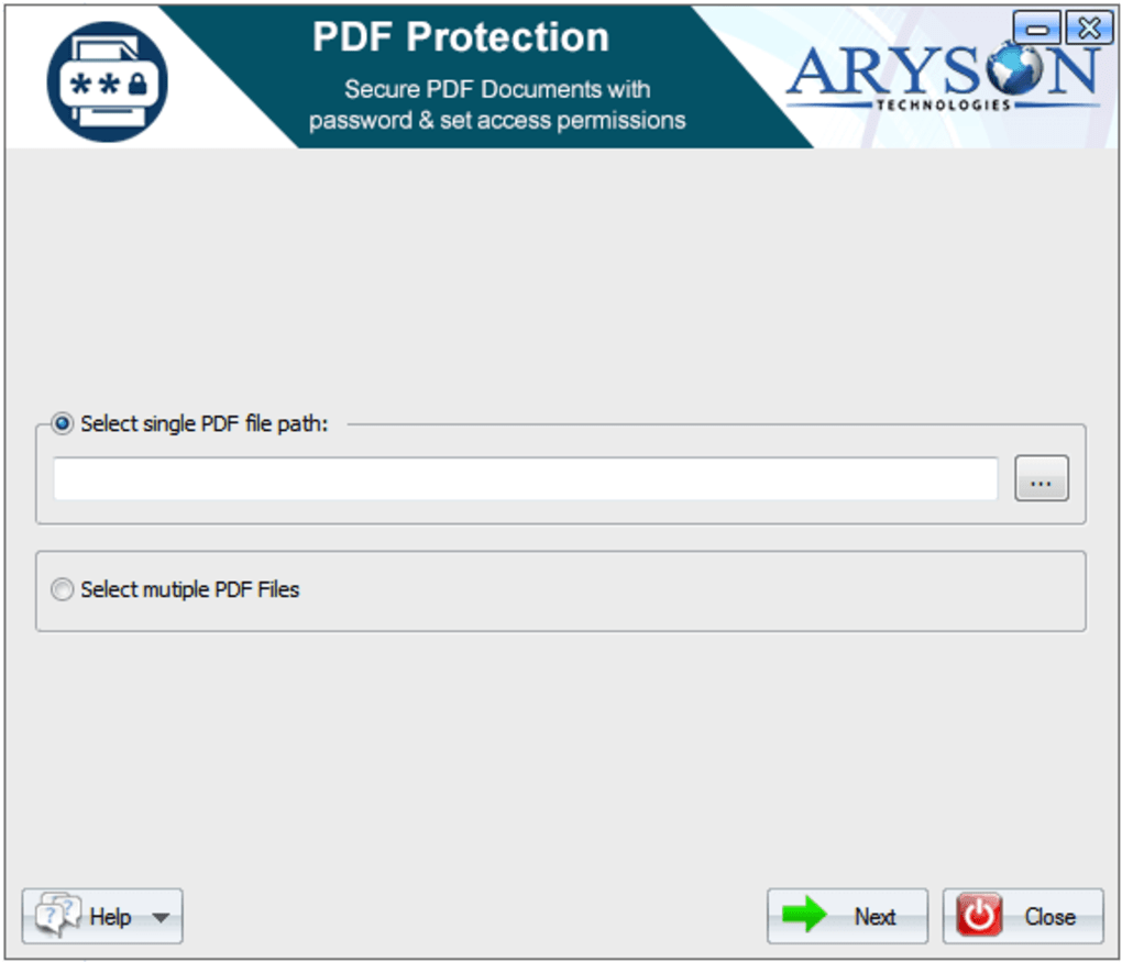 Aryson PDF Protection