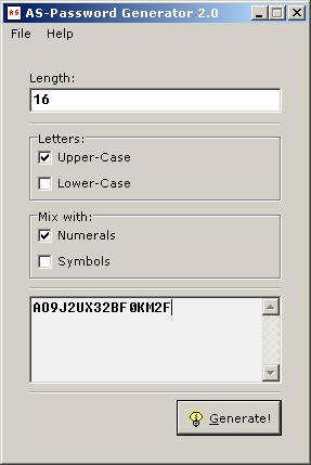 AS-Password Generator