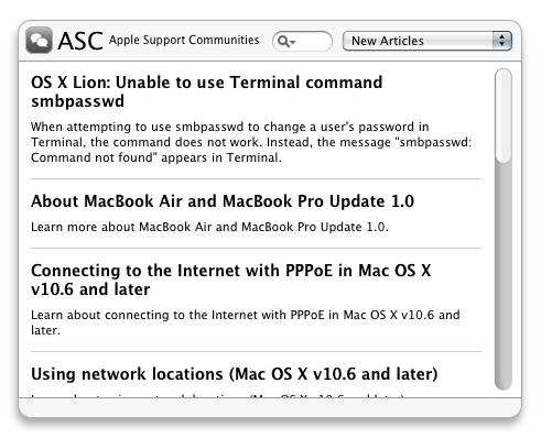 ASC - Apple Support Communities