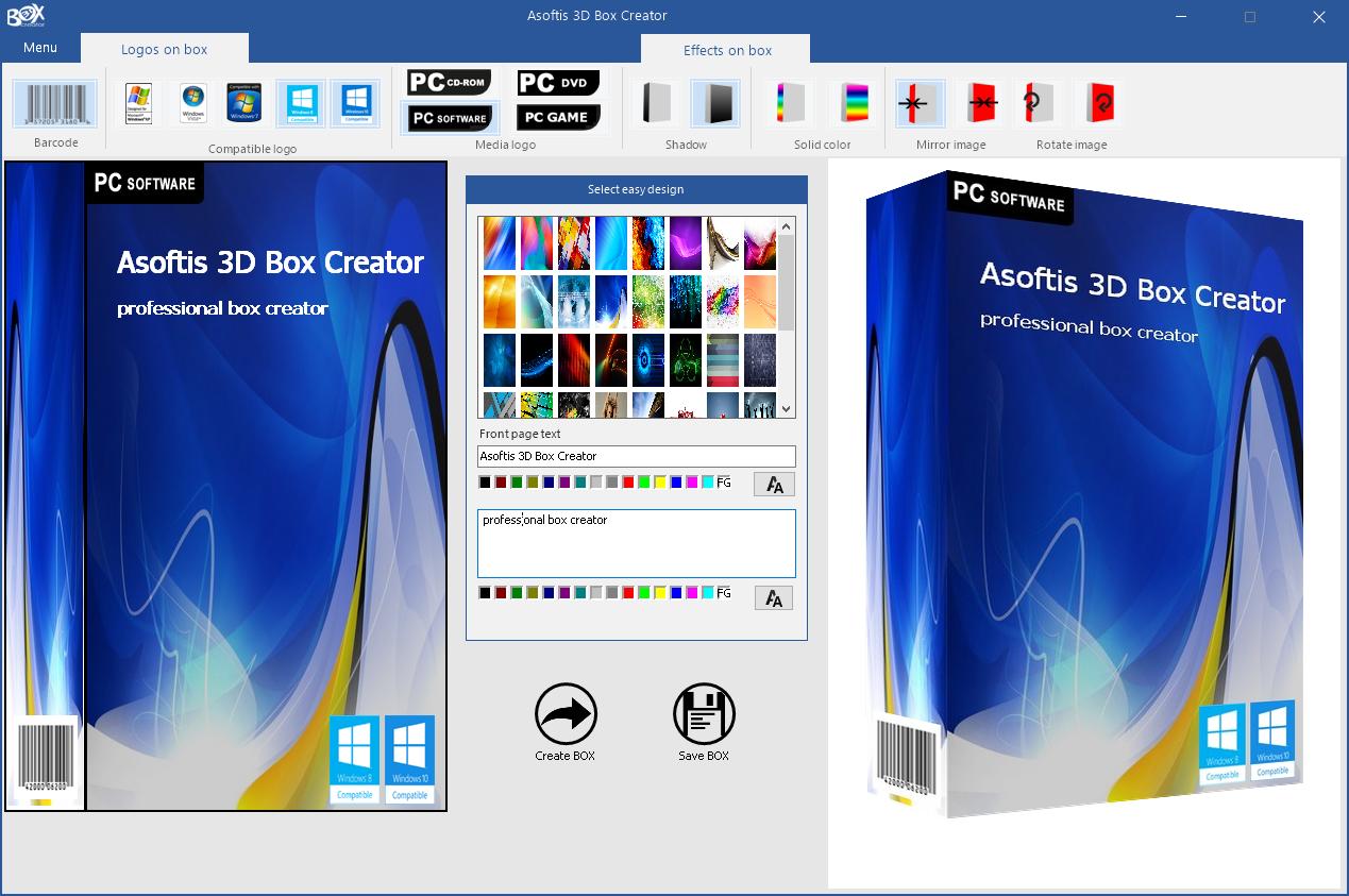 Asoftis 3D Box Creator