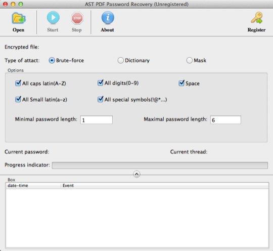 AST PDF Password Recovery