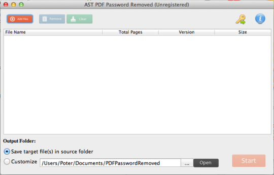 AST PDF Password Remover for Mac