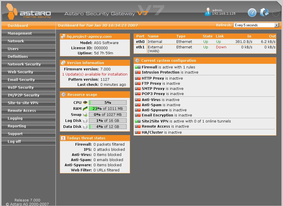 Astaro Security Gateway Software Appliance