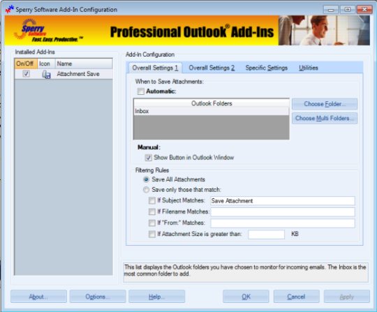 Attachment Save for Outlook 2010 (64-bit)