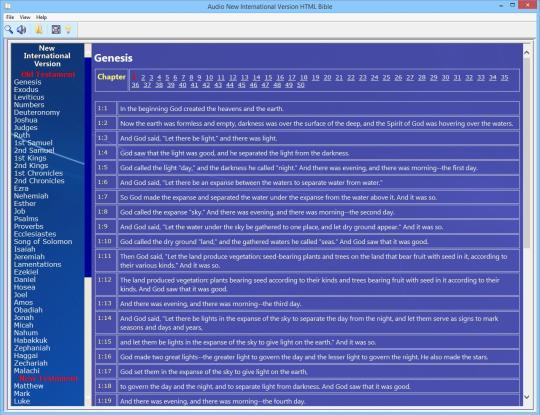 Audio New International Version HTML Bible