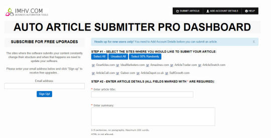 Auto Article Submitter Pro