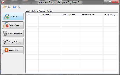 Automatic backup Manager