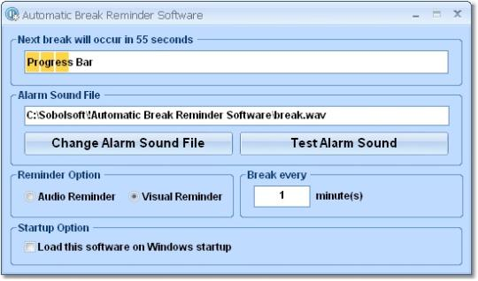 Automatic Break Reminder Software