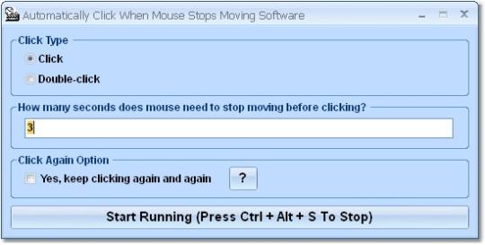 Automatically Click When Mouse Stops Moving Software
