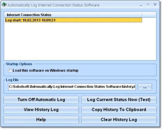Automatically Log Internet Connection Status Software