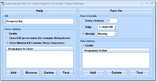 Automatically Run Or Close Programs At Certain Times Software