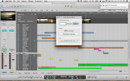 AutoSave for Logic and Soundtrack Pro