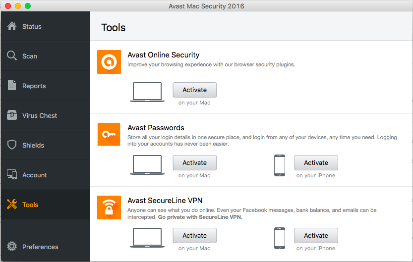 Avast Free Mac Security 2016
