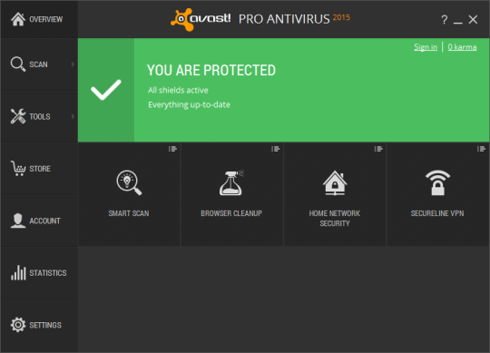 Avast Pro Antivirus 2015