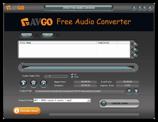 Avgo Free Audio Converter