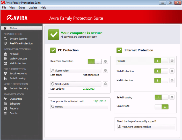Avira Family Protection Suite