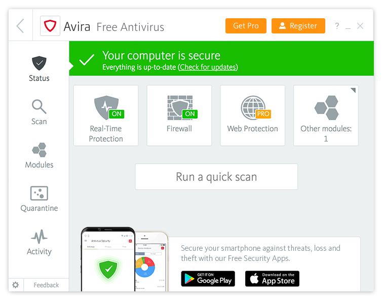 Avira Free Security with Antivirus