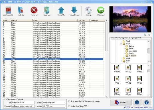 AZ TIFF to PDF Converter