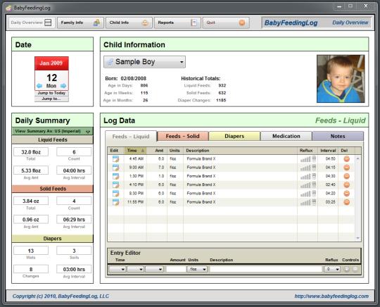 BabyFeedingLog for Windows