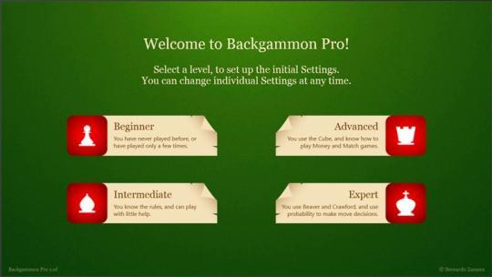 Backgammon Pro for Windows 8