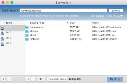 Backuplist Plus