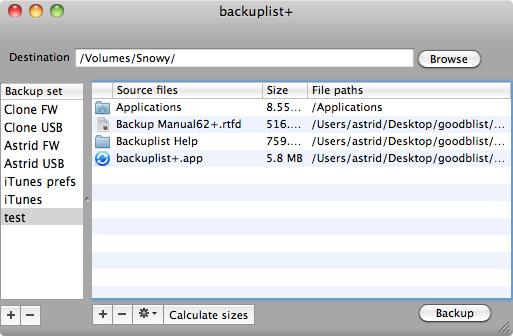 Backuplist+