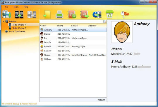 Backuptrans iPhone Contacts Backup & Restore