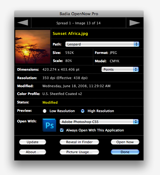 Badia OpenNow Pro for QuarkXPress