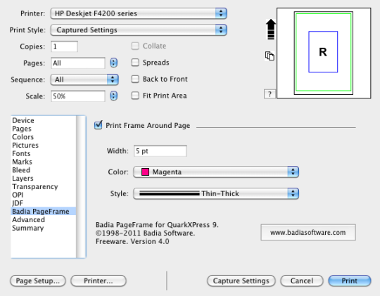 Badia PageFrame for QuarkXPress