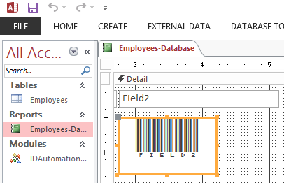 Barcode Generator for Microsoft Access
