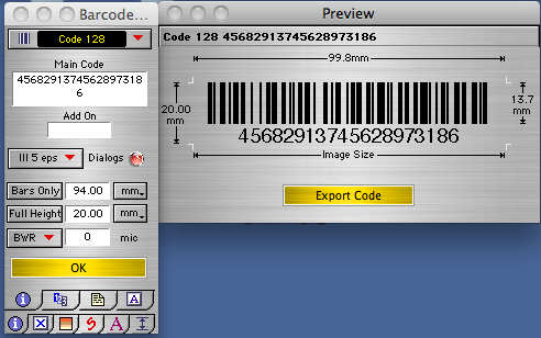 Barcode X