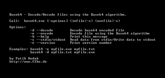 Base64 De-/Encoder