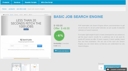 Basic Job Search Engine