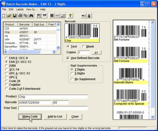 Batch Barcode Maker