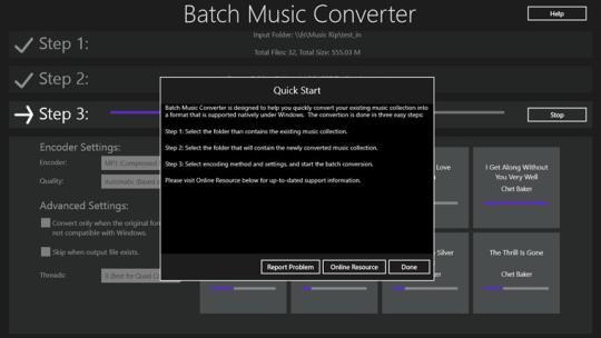 Batch Music Converter for Windows 8