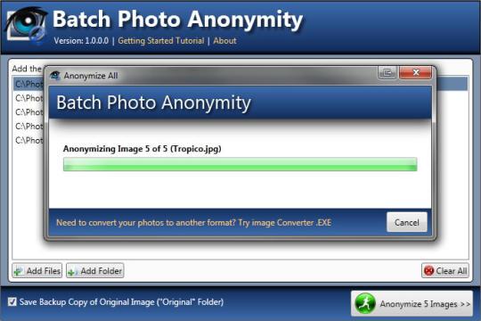 Batch Photo Anonymity