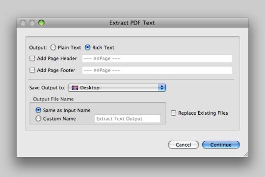 BatchConvert PDF2Text