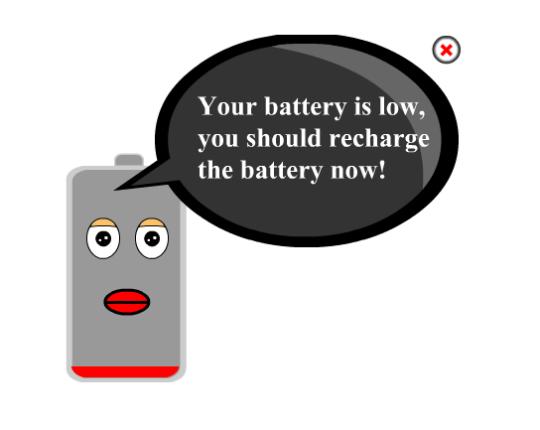 Battery Is Low Alert